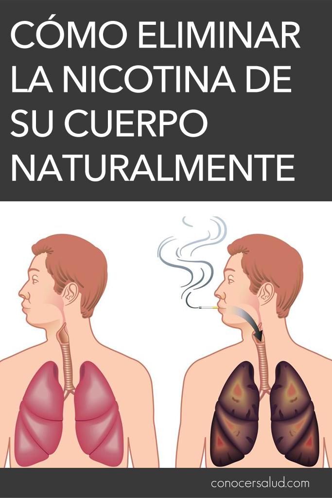 Cómo eliminar la nicotina de su cuerpo naturalmente