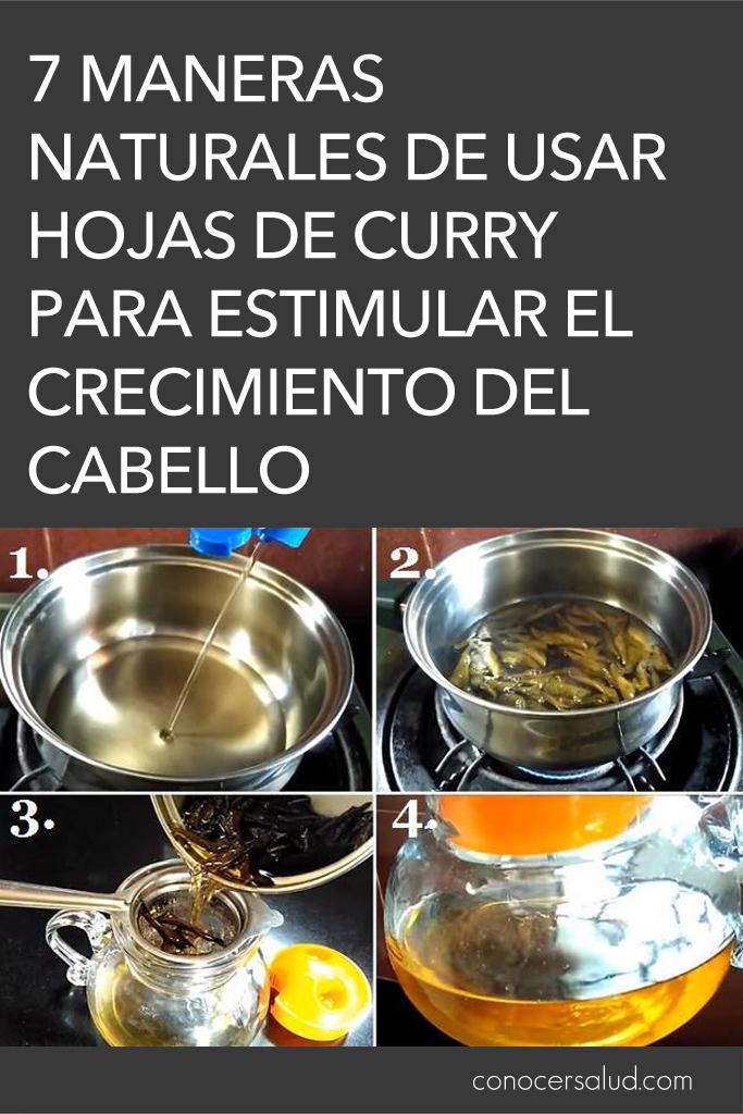 7 maneras naturales de usar hojas de curry para estimular el crecimiento del cabello