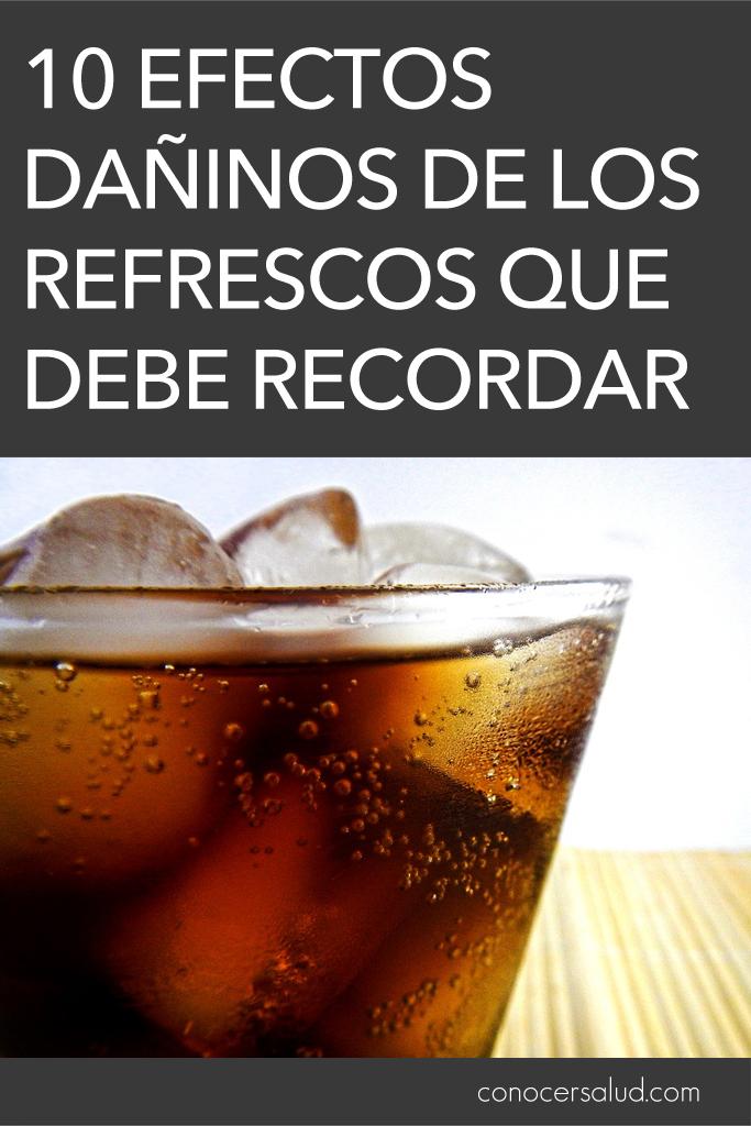 10 Efectos dañinos de los refrescos que debe recordar
