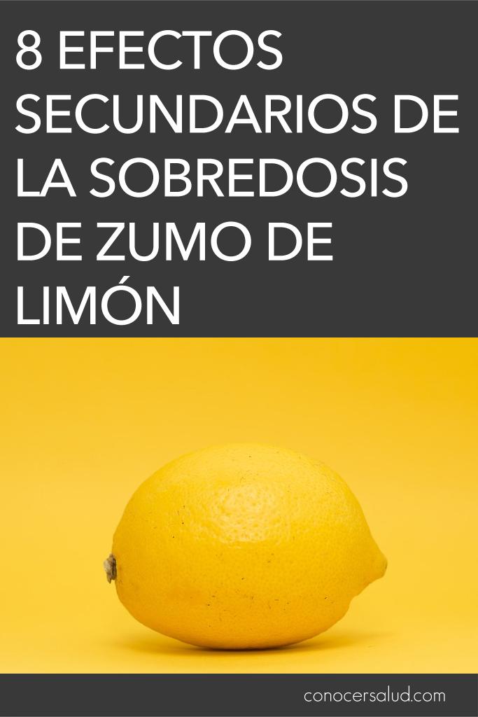 8 Efectos secundarios de la sobredosis de zumo de limón