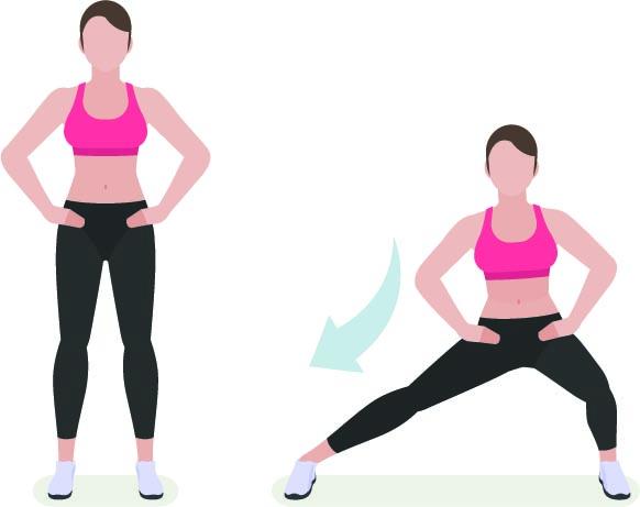 Circuito de tonificación de piernas sexy para la parte inferior del cuerpo