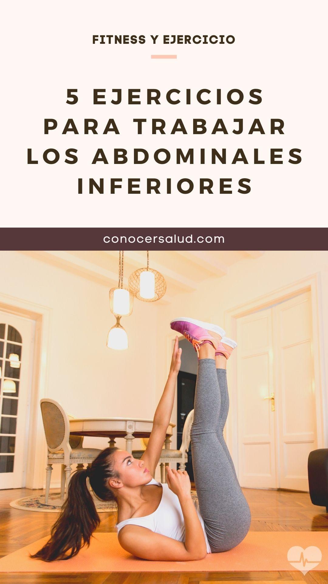 5 ejercicios para trabajar los abdominales inferiores